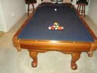 "We have an AMAZING Legacy 4x8 Pool Table in ""Chestnut"""