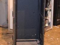 Selling a used black, wall mountable rack unit. For use