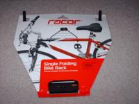 Selling a Racor single folding bike rack. Brand new