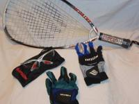 I am selling my racquetball equipment, which is in