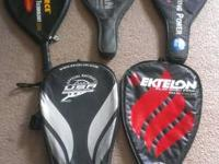 I have a few racquetball racquets for sale. All are in