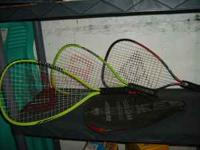 Three racquetball racquets $10 each or $25 for all.