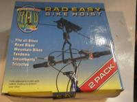 This is a two pack bike hoist made by Rad Products.