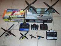 Electric & Nitro Radio Controlled Helicopters $25.00 &