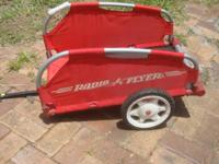 This small Radio Flyer wagon, that attaches to a small