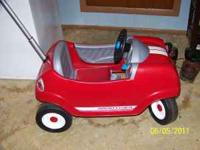 I have 2 radio flyer cars for $30 each. It has a handle