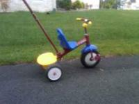 Radio flyer Tricycle with Adult control bar. Great
