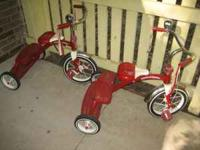 I've got a pair of Radio Flyer dual deck tricycles -