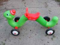 I HAVE A RADIO FLYER INCHWORM IN GOOD CONDITION. WORKS