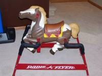 Radio Flyer Liberty Spring Horse. Springs are covered