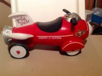 Radio Flyer Retro Rocket Child's Ride On Toy with
