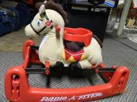 Radio Flyer Soft Rock & Bounce Pony w/sound Like new -