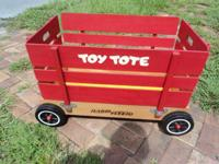 Designed to be a toy box on wheels, this is easy to