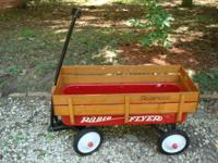 Here is the iconic little red wagon all of us remember