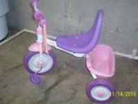 Girls Radio Flyer Tricycle. This one folds up for easy