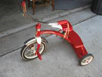 AVAILABLE.  Radio Leaflet tricycle. Model # 33. Back