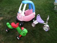 Little Tikes Cozy Coupe $10. Radio Flyer Pink and