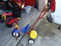 I have for sale a Radio Flyer Tricycle with Push