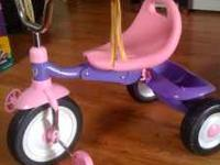 pink and purple radio flyer that is in great shape. My
