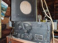 Short wave radio receiver used in long range bombers in
