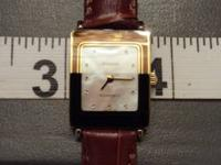 Womens Rado Swiss watch with uncommon mom of pearl dial