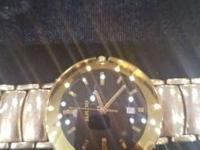 RADO ARM WATCH WITH SOLID 14KT GOLD BEND CUSTOM MADE