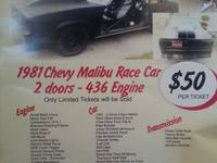 1981 2 Door Chevy Malibu Race Car w/436 Engine for