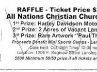 Description Raffle to support youth for sports camps