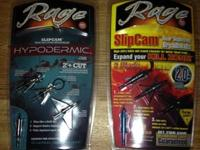 New rage hypodermics $40 per pack, new rage 2 blade $35