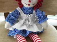 Brand new home/hand made Raggedy Ann doll about 2'