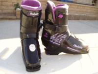 Raichle ski boots - size 5-6 with heel retention