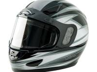The Raider Full Face Snowmobile Helmet features a