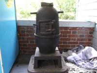 Very unusual, Cast iron railroad caboose stove, in the