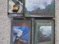 Set of four railroading videos on VHS. Combined playing
