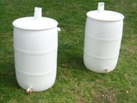55 gallon food grade barrels with 2 bungs White