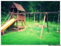 Rainbow brand swingset.   Clubhouse structure