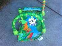 Rainforest play mat for tummy or back time. asking $7