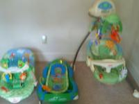 I have the fisher price rainforest set of the swing
