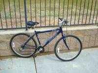 18 inch frame. 26 inch wheel size. 21 speed. Great