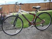 A nice raleigh C40 hybrid bicycle. It's built like a