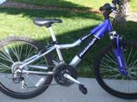 I have a Raleigh Mtn Bike W/Front Suspension and 24""