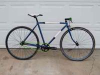 This is an older Raleigh road bike single speed. It has