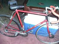This is a Raleigh Technium road bike with new back rim