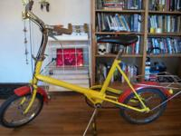 I've got a 1970's Raleigh Small Wheel bicycle for sale.