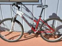 This is a Raleigh M40 Mountain Bike. It is 21 speed.