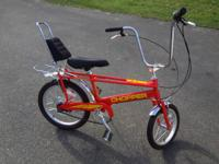 2004 Orange/yellow Raliegh chopper, 3 speed, bought