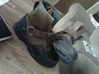 Size 7 1/2 have brown and black polo boots. Their in