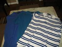 3 RALPH LAUREN POLO SHIRTS. 1. $10.00 XL - BLUE/WHITE