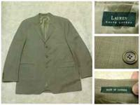 This is a Ralph Lauren three button suit. It is a