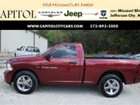 From mountains to mud, this Maroon 2012 Ram 1500 ST